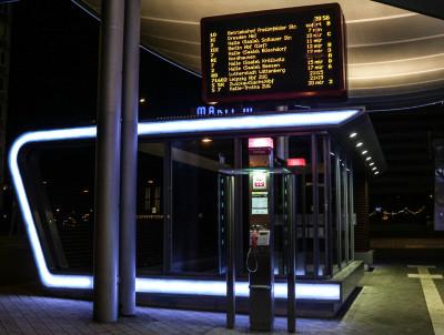 Hauptbahnhof bei Nacht