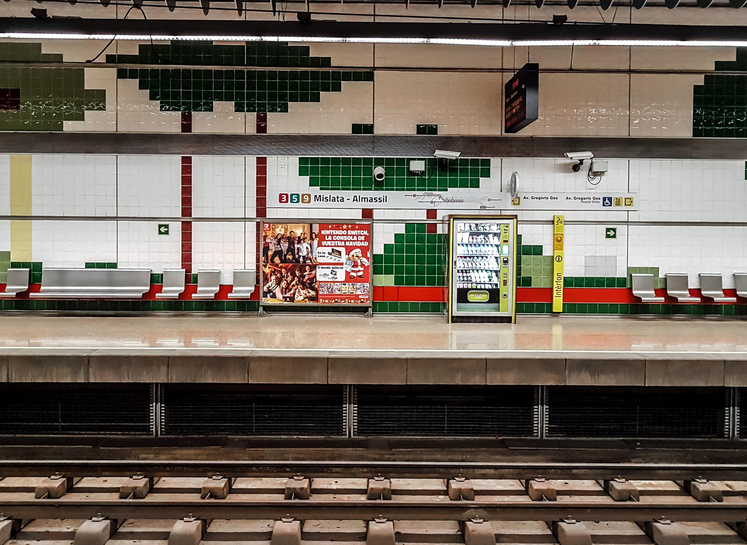 Eine Bahnstation in Valencia